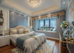 苏州140平米清爽明快的简欧风格样板房软装