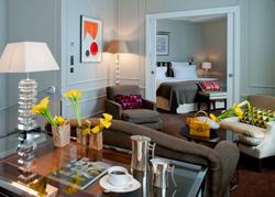 巴黎布尔甘地Le Burgundy酒店的客房软装