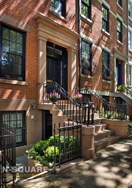 纽约市的希腊风格联排别墅软装