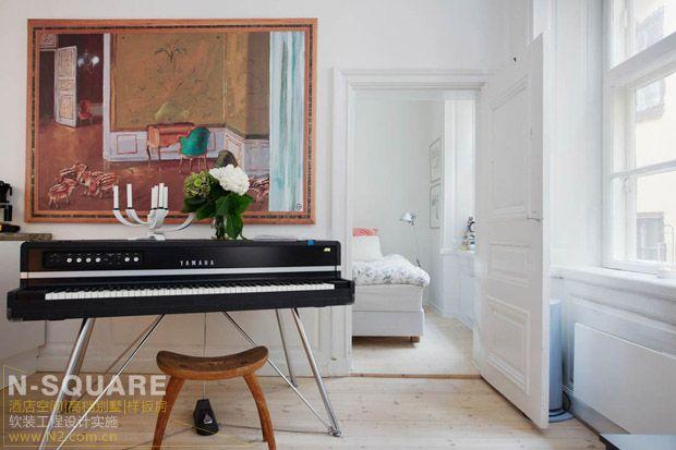 瑞典的輕工業風公寓設計