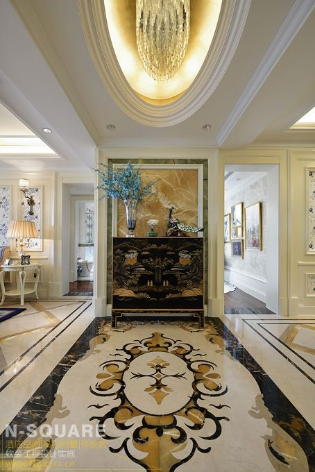 上海孔雀蓝般的欧式奢华样板房软装