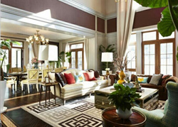 福州鼓楼区新中式风格的别墅样板房软装